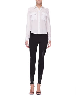 McQ Alexander McQueen Stretch Cotton Utility Shirt & Engineered Leggings