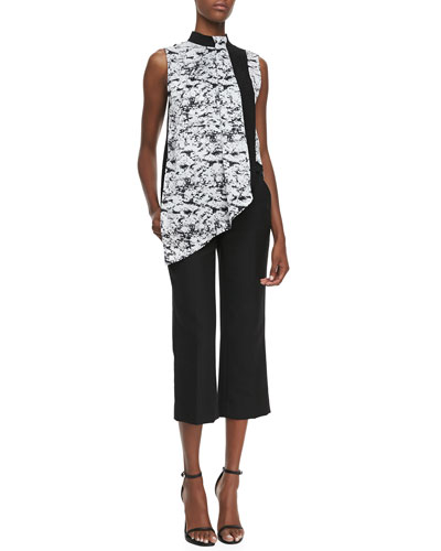 Robert Rodriguez Graphic-Print Overlay Blouse & Cropped Trousers