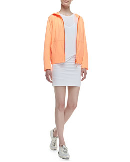 Theory Layerz Active Long-Sleeve Hoodie Jacket & Toasta Short-Sleeve Tee Dress