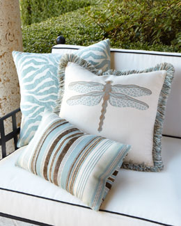 ELAINE SMITH Aqua Outdoor Pillows