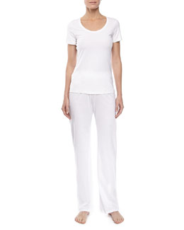 Hanro Pima Cotton Drawstring Pants & Cotton Superior Tee