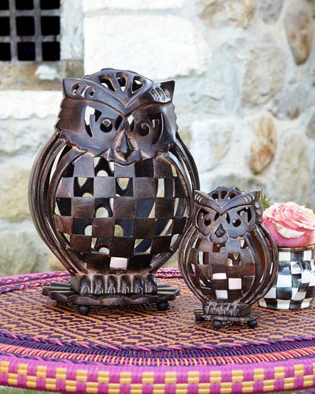 MacKenzie-Childs Small Owl Luminary