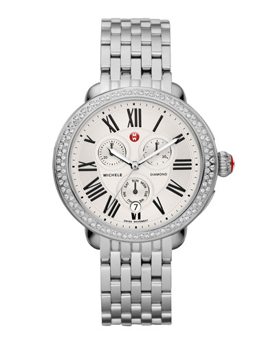 MICHELE Serein Diamond Watch Head & 7-Link Bracelet Straprap