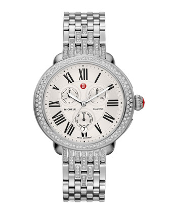 Serein Diamond Watch Head & Diamond Taper 7-Link Bracelet Strap