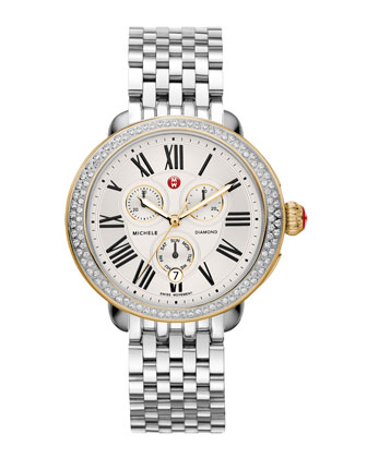 Serein Diamond Two-Tone Watch Head & 7-Link Bracelet Strap