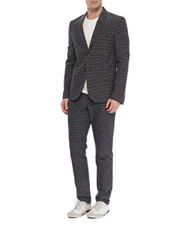 Rag & Bone Print Two-Button Jacket & Walker Printed Pants