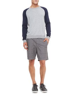 Rag & Bone Milo Raglan Long-Sleeve Tee & Chambray Board Shorts
