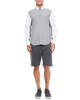 Rag & Bone Vale Colorblock Sport Shirt & Melange Training Shorts