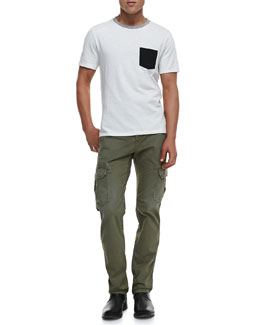 Rag & Bone Colorblock Pocket Tee & Radar Distressed Cargo Pants