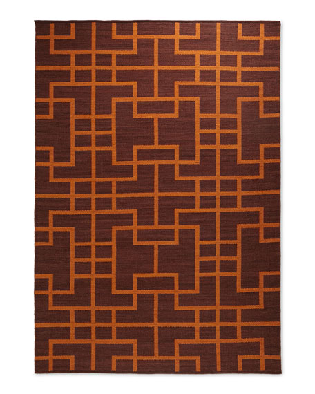 "Interlock Maze Rug, 7'9"" x 10'10"""