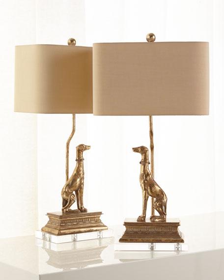 Neimanmarcus Right Regal Dog Table Lamp