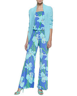 Lilly Pulitzer Amalie Longer Open Cardigan & Kourtney Floral-Print Jumpsuit