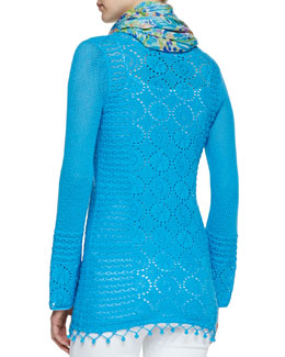 Lilly Pulitzer Athena Crochet Tunic & Murfee Sea Soiree Scarf