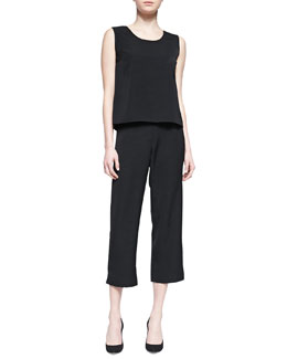 Caroline Rose Shantung Boxy Tank and Slim Capri Pants
