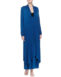 Donna Karan Liquid Jersey Wrap Robe & Liquid Jersey Long Gown, Mazarine Blue