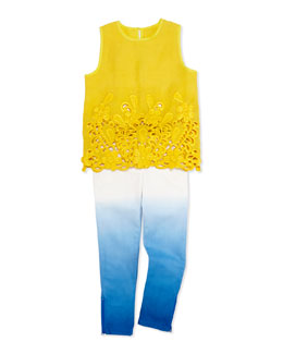 Stella McCartney Thelma Sleeveless Lace Blouse & Nina Ombre Jeans