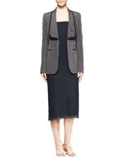 THE ROW Odex Shawl-Collar Blazer and Dabi Crinkled Strapless Dress