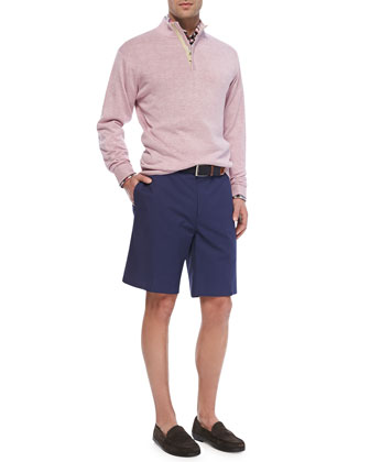 Quarter-Zip Pullover Sweater, Multi-Check Sport Shirt & Lightweight Twill ...