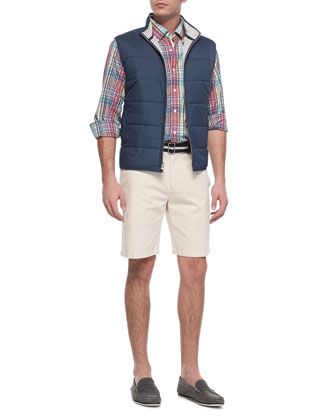 Cumberland Quilted Vest, Harwich Port Plaid Sport Shirt & Winston Washed ...