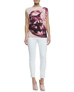 Stella McCartney Puma Cotton Tee & Four-Pocket Jeans