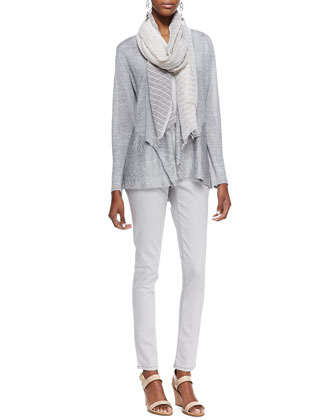 Polished Jersey Cardigan, Long Slim Camisole, Organic Soft Skinny Jeans & ...