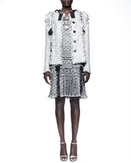 Lanvin Grosgrain-Trim Tweed Jacket & Dress