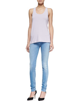 Vince Loose Sleeveless Jersey Tank & Riley Summer Blue Skinny Jeans