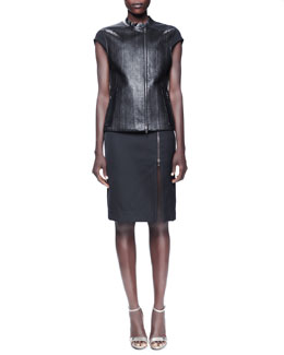 Lanvin Watersnake Cap-Sleeve Top & Pencil Skirt