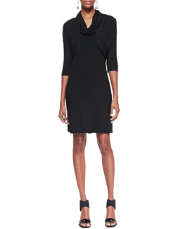 Eileen Fisher Sleeveless Cowl-Neck Dress & Half-Sleeve Shrug, Petite