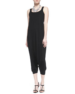Eileen Fisher Organic Cotton Slim Tank & Jersey Harem Jumpsuit