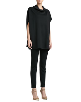 St. John Collection Draped Tunic, Milano Knit Contour Tank & Alexa Slim Ankle Pants