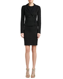 St. John Collection Four-Button Jacket & Sleeveless Sheath Dress