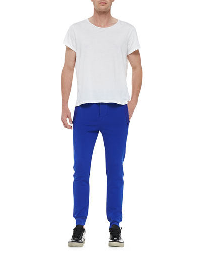 Crewneck Relaxed-Fit T-Shirt & Fred Main Banded Sweatpants