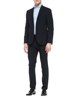 Acne Studios Drifter Two-Button Suit Jacket, Long-Sleeve Swiss Dot Shirt & Drifter Suit Pants