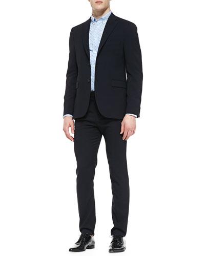 Acne Studios Drifter Two-Button Suit Jacket, Long-Sleeve Swiss Dot Shirt & Drifter Suit Pants