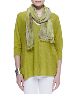 Eileen Fisher Organic Linen Cotton Top, Slim Tank & Oxidized Jacquard Scarf