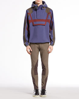 Gucci Poly Poplin Jacket & Equestrian Techno Riding Pants