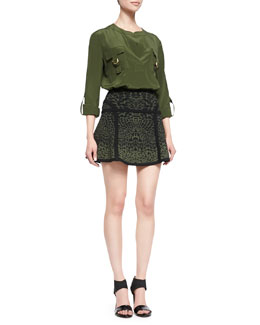 Diane von Furstenberg Danielle Flap Pocket Chest Blouse & Danielle Flap Pocket Chest Blouse