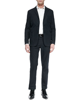 Vince Slim-Fit Stretch-Cotton Blazer & Trousers