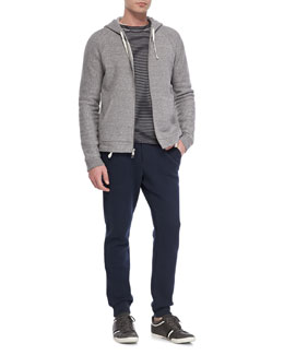 Vince Fleece Zip-Front Hoodie & Fleece Tapered Sweatpants