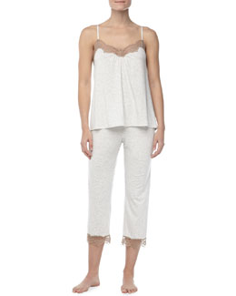 Hanro Teresa Lace-Trim Top & Capri Pants