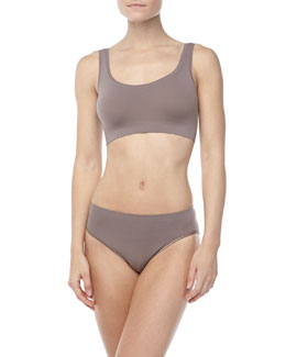 Hanro Touch Feeling Crop Top & High-Cut Briefs, Plum