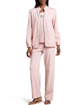 Interlock Zip Jacket, Beaded Jersey Shell & Interlock Stretch Pants, Women's