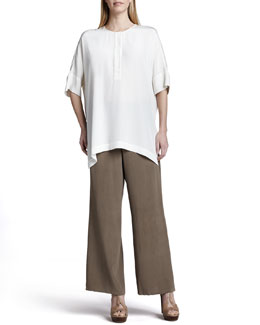 Go Silk Silk Dolman-Sleeve Tunic & Pants, Petite