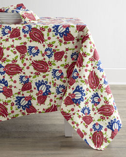 Oscar de la Renta Ornamental Floral Table Linens