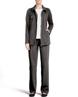 Eileen Fisher Long-Sleeve Jersey Tee, Organic Drawstring Jacket & Pants