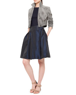 Akris punto Dot Degrade Jacket, Jersey Cap-Sleeve Boat-Neck Top & Faux Wrap Full Skirt