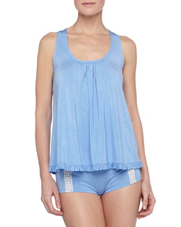 Underella by Ella Moss Boho Bliss Ruffle Tank and Crochet-Trim Boy Shorts