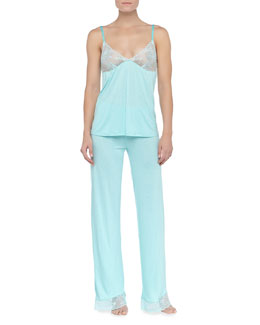 La Perla Diana Lace-Trim Camisole and Pajama Pants