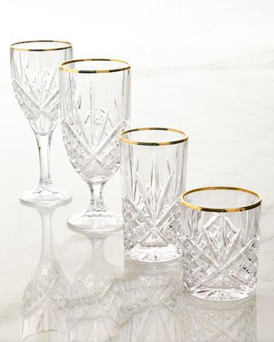 Godinger Dublin Gold Crystal Glassware